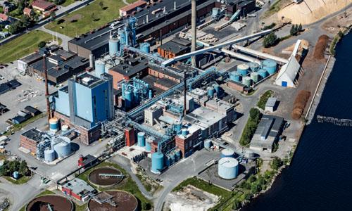 Obbola cellulosafabrik. - Jrnvgsmuseet / DigitaltMuseum